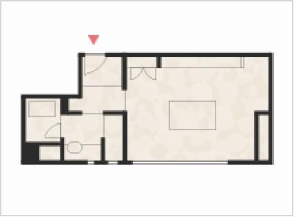 和室10畳+広縁+つぎの間の間取り図
