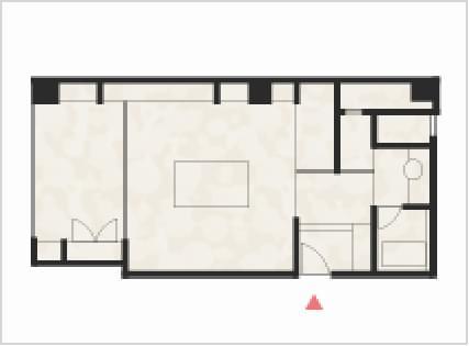 和室14畳+広縁+つぎの間の間取り図