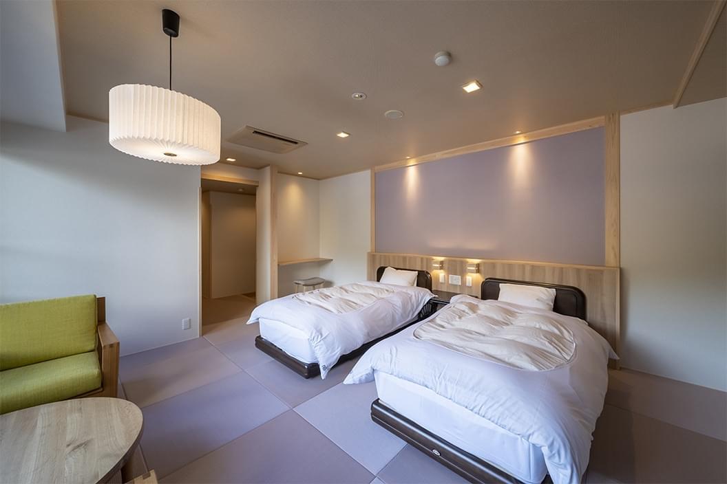 【603】かけ流し温泉付【和室ベッド】12畳|別所ビューの画像3